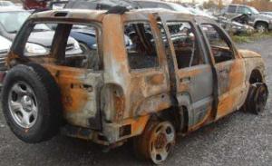 Burned Jeep Liberty
