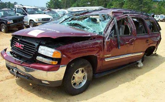 GMC Yukon Roof Crush Accidents
