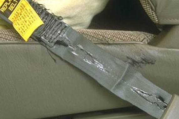 Torn Seat Belt Webbing